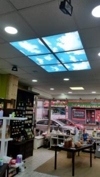 Installations de panneaux led  ciel 2D par nos soins a Braine Le Comte , CHARLEROI